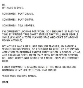 Dave Grohl true story from instagram